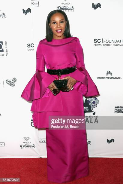 June Ambrose attends the Wearable Art Gala at California African American Museum on April 29 2017 in Los Angeles California