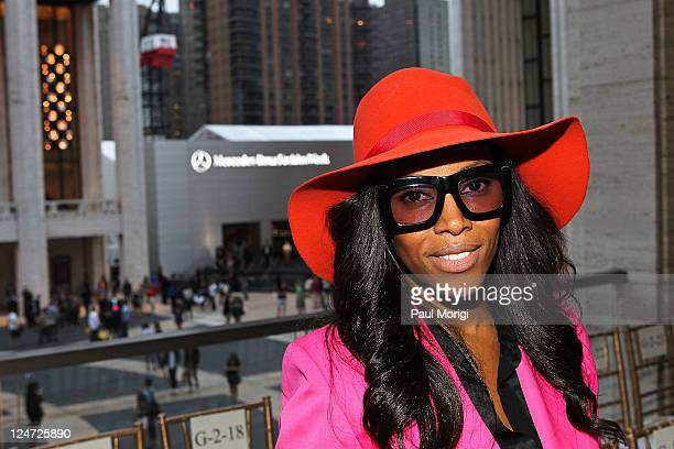 June Ambrose attends the Zac Posen Spring 2012 fashion show during MercedesBenz Fashion Week at Avery Fisher Hall Lincoln Center on September 11 2011...