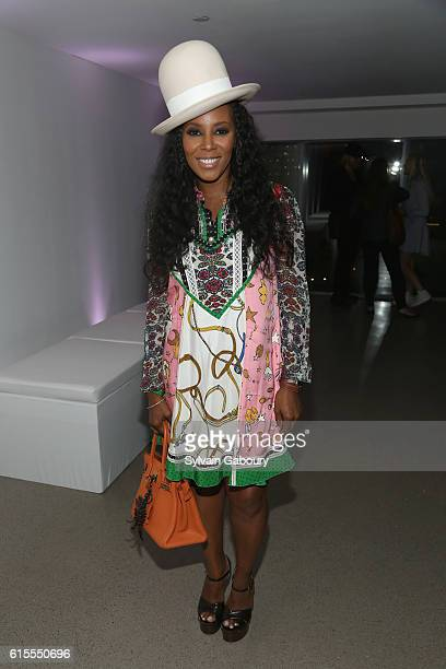 June Ambrose attends VIP Evening of Conversation for Women's Brain Health Initiative Moderated by Tina Brown at Spring Studios on October 18 2016 in...
