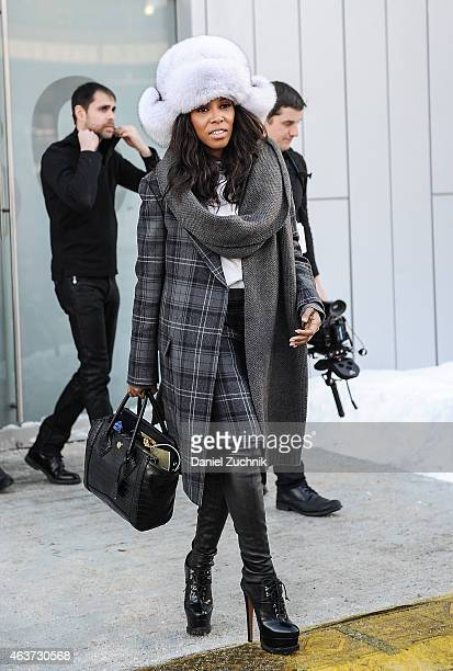 June Ambrose is seen outside the Marc by Marc Jacobs show on February 17 2015 in New York City