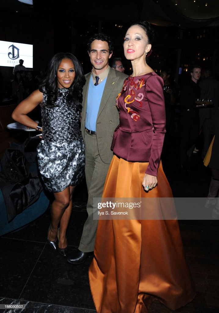 <a gi-track='captionPersonalityLinkClicked' href=/galleries/search?phrase=June+Ambrose&family=editorial&specificpeople=619410 ng-click='$event.stopPropagation()'>June Ambrose</a>, Zac Posen and <a gi-track='captionPersonalityLinkClicked' href=/galleries/search?phrase=Pat+Cleveland+-+Model&family=editorial&specificpeople=592076 ng-click='$event.stopPropagation()'>Pat Cleveland</a> attend the New York premiere of 'Mandela: Long Walk To Freedom' hosted by The Weinstein Company, Yucaipa Films and Videovision Entertainment, supported by Mercedes-Benz, South African Airways and DeLeon Tequila at Stone Rose Lounge on November 14, 2013 in New York City.