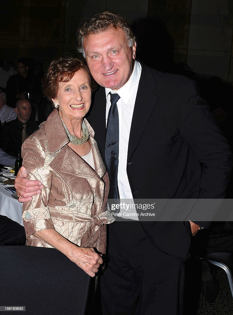 June Dally-Watkins and former heavyweight boxer <a gi-track='captionPersonalityLinkClicked' href=/galleries/search?phrase=Joe+Bugner&family=editorial&specificpeople=239003 ng-click='$event.stopPropagation()'>Joe Bugner</a> at a tribute and testimonial dinner to celebrate his 60th birthday at the Sofitel Hotel on March 12, 2010 in Sydney, Australia.