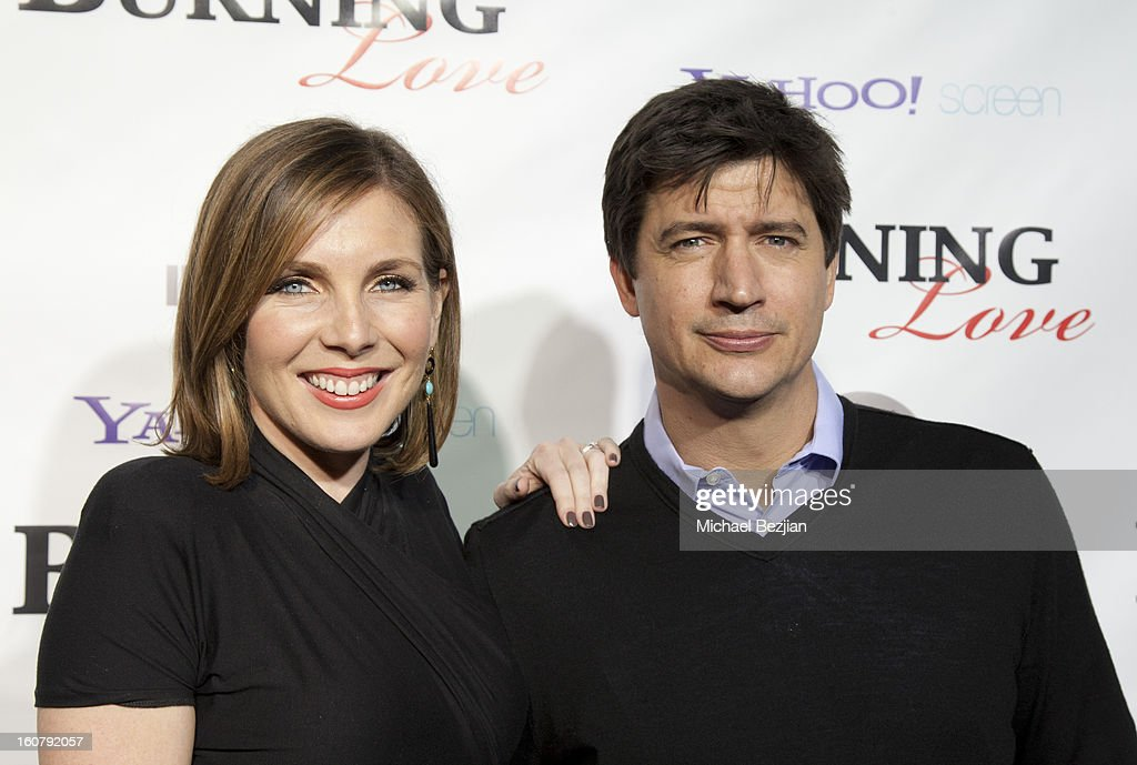 June Diane Raphael and Ken Marino attend the 'Burning Love' season 2 premiere at Paramount Theater on the Paramount Studios lot on February 5, 2013 in Hollywood, California.