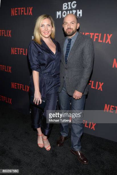 June Diane Raphael and Paul Scheer arrive at the premiere of Netflix's 'Big Mouth' at Break Room 86 on September 20 2017 in Los Angeles California