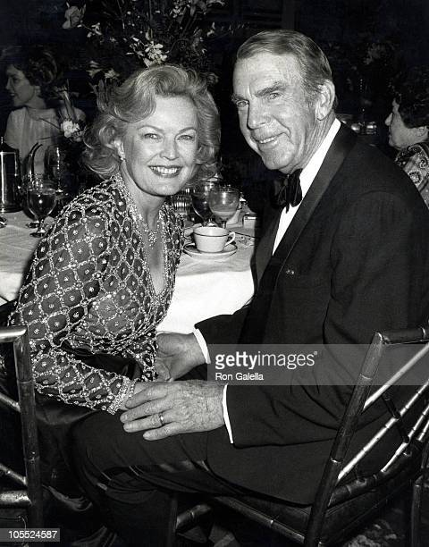 June Haver and Fred MacMurray during The Adam Eve Awards at Beverly Wilshire Hotel in Beverly Hills California United States