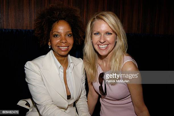 June Hoynes and Monica Crowley attend American Institute for Stuttering Gala Luncheon at Queen Mary 2 Red Hook on June 10 2007 in Brooklyn New York