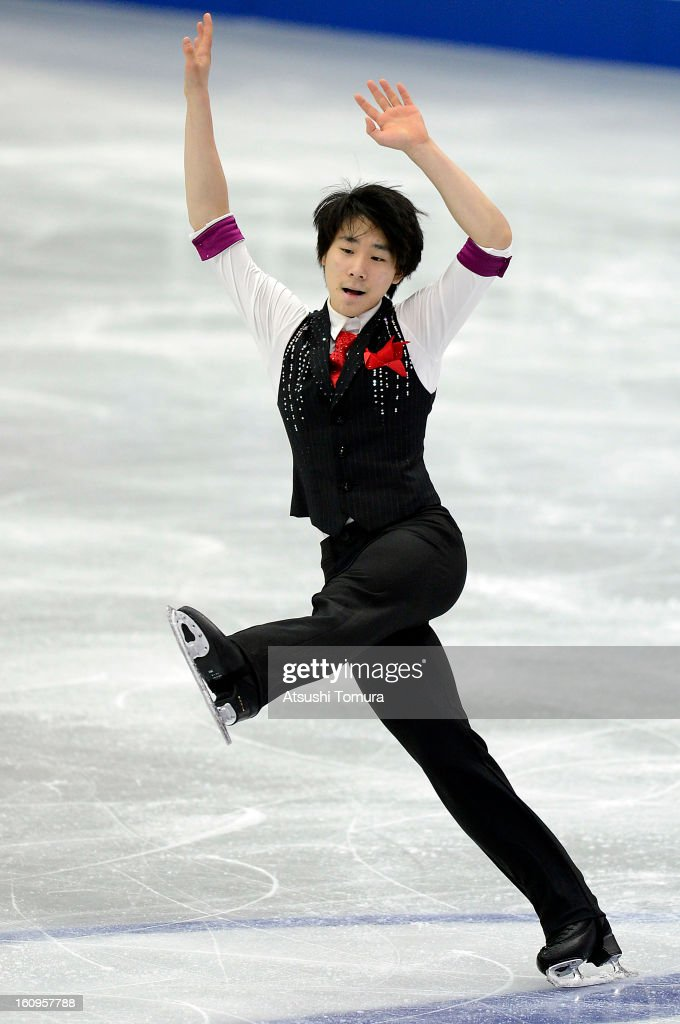 June Hyoung Lee of Korea skates in the Men Short Program during day one of the ISU Four Continents Figure Skating Championships at Osaka Municipal Central Gymnasium on February 8, 2013 in Osaka, Japan.
