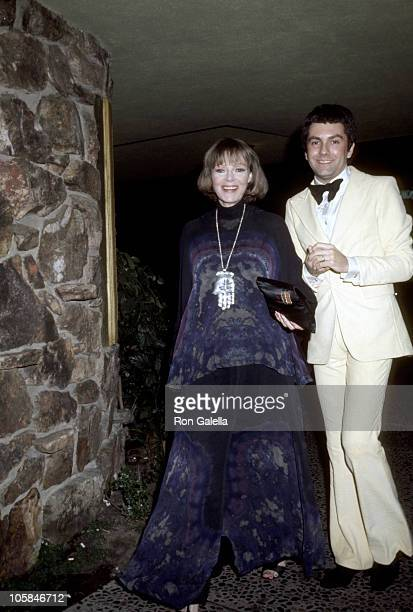 June Lockhart and guest during June Lockhart Departs from the Westwood Theater March 1 1977 at Westwood Theater in Westwood California United States