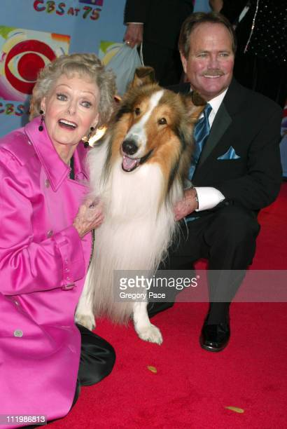 June Lockhart and Jon Provost who both starred on the TV Show 'Lassie' with Lassie