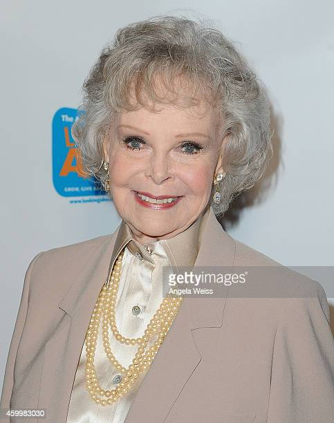 June Lockhart arrives at The Actor's Fund 2014 The Looking Ahead Awards at Taglyan Cultural Complex on December 4 2014 in Hollywood California
