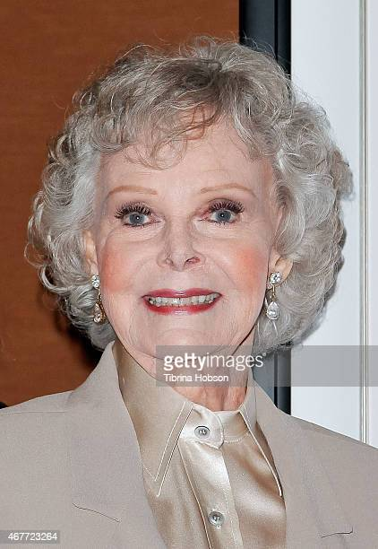 June Lockhart attends the Hollywood Chamber of Commerce honoring her with a Lifetime Achievement Award at the Universal Hilton Hotel on March 26 2015...