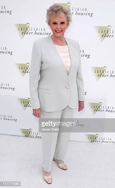 June Lockhart during Ground Breaking Ceremony of 'Encore Hall' Gay and Lesbian Housing at 1602 N Ivar in Hollywood California United States