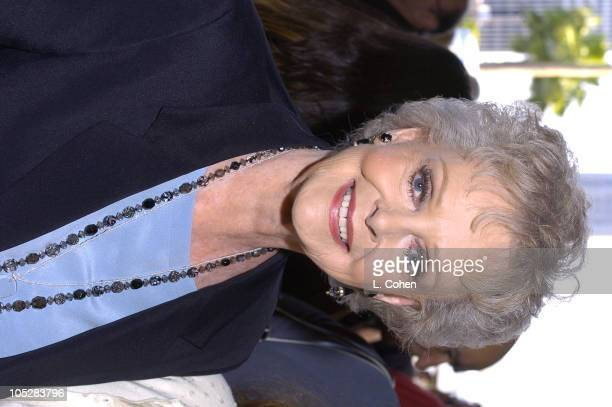 June Lockhart during 'Mamma Mia' Los Angeles Premiere Red Carpet at Pantages Theatre in Hollywood California United States