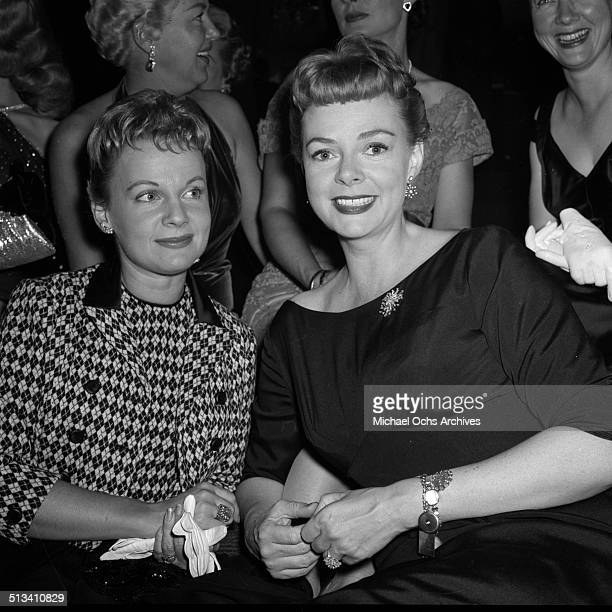 June Lockhart poses during a Stars party on October 41957 in Los AngelesCA