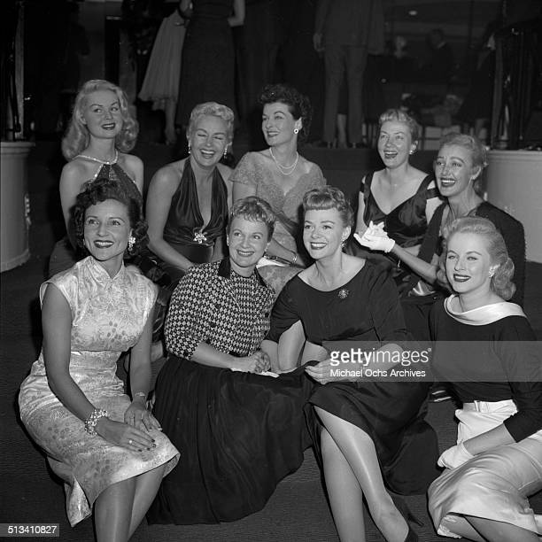 June Lockhart poses with other actresses during a Stars party on October 41957 in Los AngelesCA