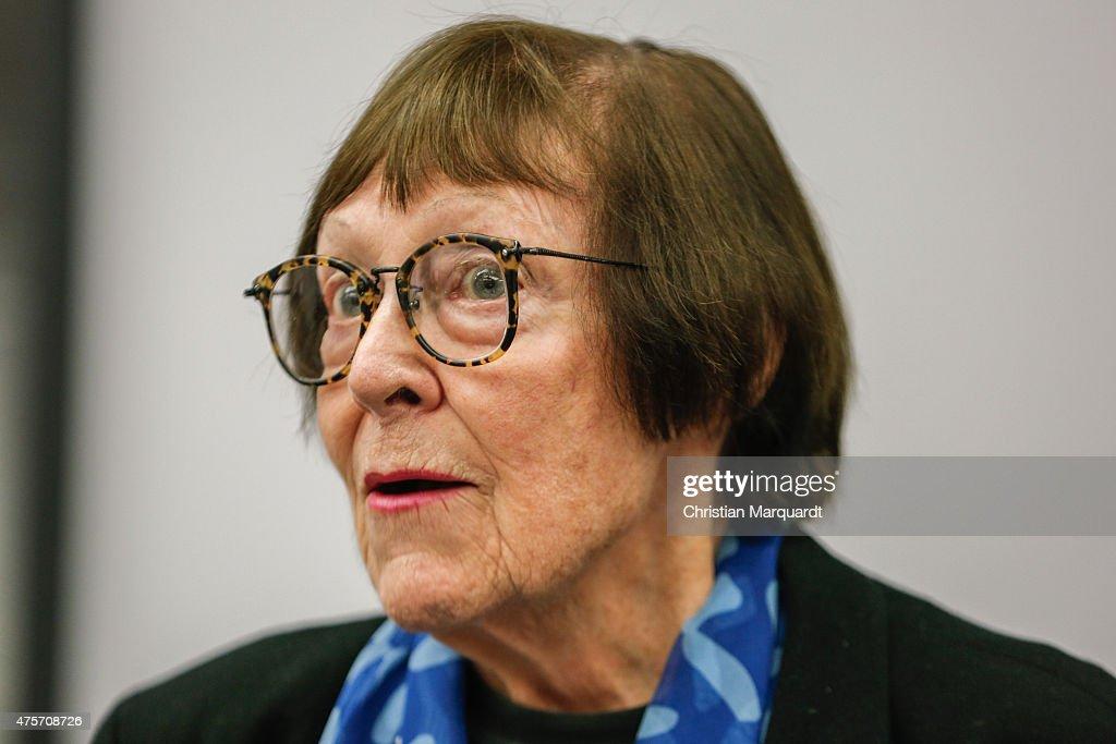June Newton, President of Helmut Newton Foundation, attends the press ...