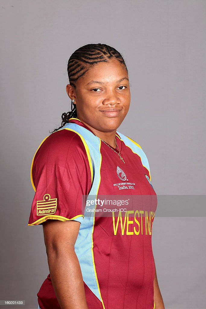 June Ogle of West Indies poses at a portrait session ahead of the ICC Womens World Cup 2013 at the Taj Mahal Palace Hotel on January 27, 2013 in Mumbai, India.
