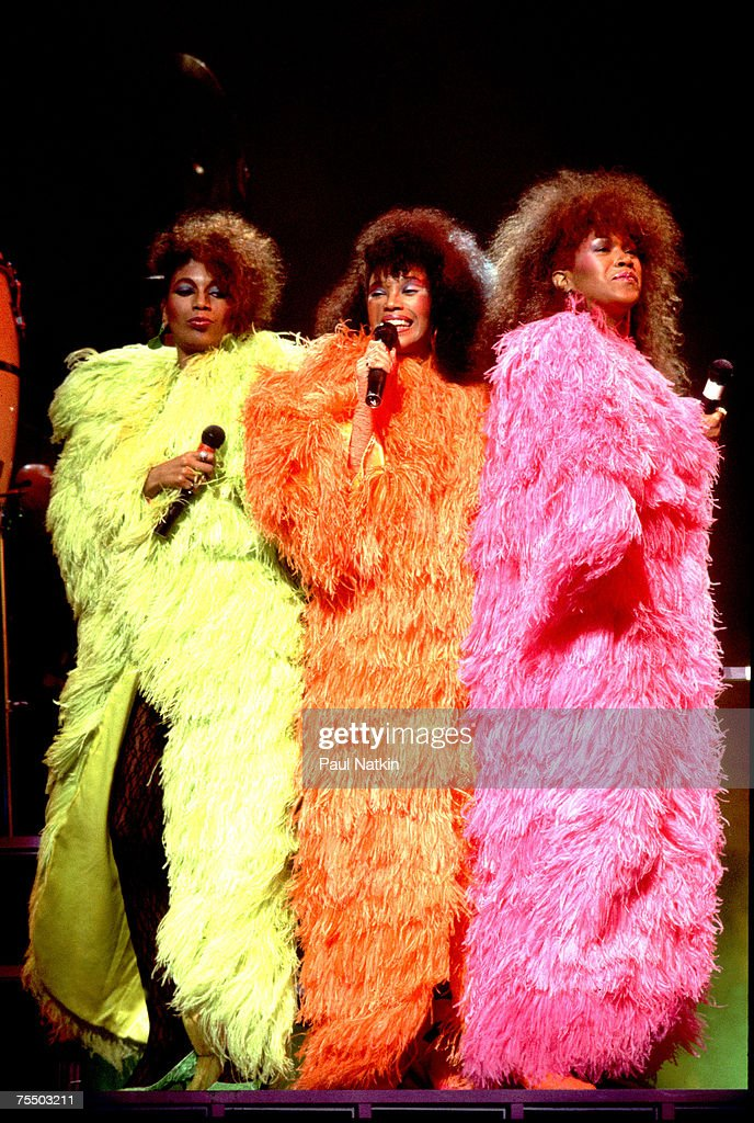 June Pointer Anita Pointer and Ruth Pointer of The Pointer Sisters on 6/27/85 in Chicago Il in Various Locations
