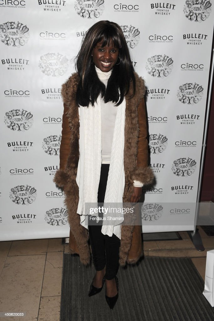 June Sarpong arrives for the 'Steam and Rye' resturent launch party on November 19, 2013 in London, United Kingdom.