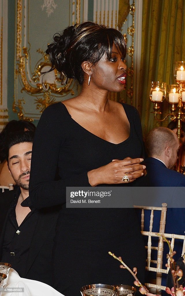 <a gi-track='captionPersonalityLinkClicked' href=/galleries/search?phrase=June+Sarpong&family=editorial&specificpeople=211482 ng-click='$event.stopPropagation()'>June Sarpong</a> attends a dinner hosted by John Caudwell on March 5, 2014 in London, England.