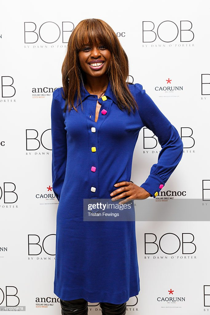 <a gi-track='captionPersonalityLinkClicked' href=/galleries/search?phrase=June+Sarpong&family=editorial&specificpeople=211482 ng-click='$event.stopPropagation()'>June Sarpong</a> attends the launch of Dawn O'Porter's BOB pop up boutique at Seven Dials, with Caorunn Gin and anCnoc vinatage Whisky, Vidal Sassoon and Smashbox on May 6, 2015 in London, England.