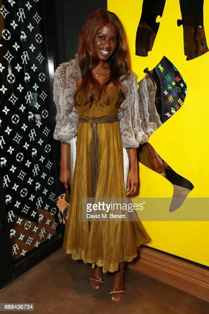 June Sarpong attends the launch of new restaurant 'Red Rooster' at The Curtain on May 25 2017 in London England