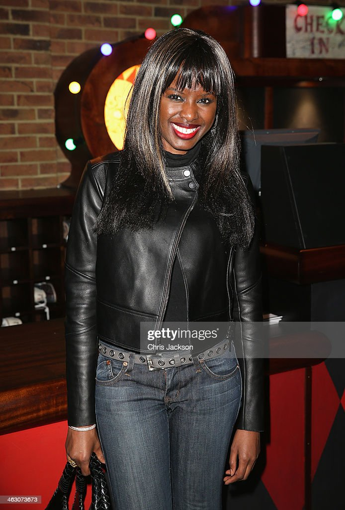 <a gi-track='captionPersonalityLinkClicked' href=/galleries/search?phrase=June+Sarpong&family=editorial&specificpeople=211482 ng-click='$event.stopPropagation()'>June Sarpong</a> attends the red carpet launch party for the Brooklyn Bowl at 02 Arena on January 16, 2014 in London, England.