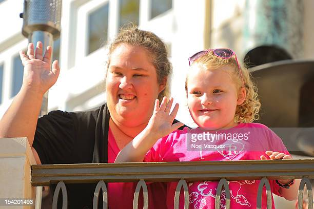 June Shannon and Alana 'Honey Boo Boo' Thompson are sighted at The Grove on October 15 2012 in Los Angeles California