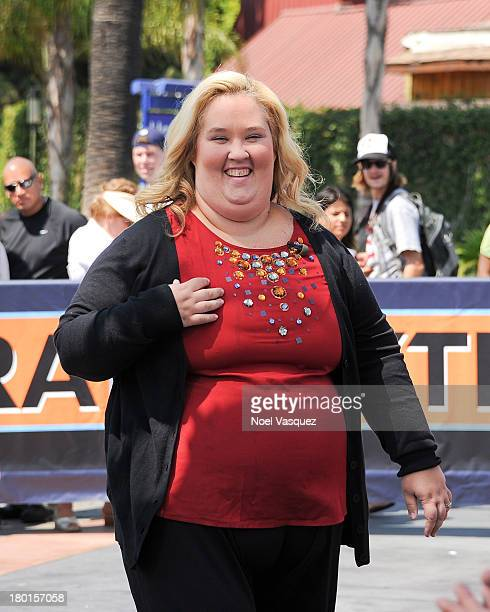 June Shannon visits 'Extra' at Universal Studios Hollywood on September 9 2013 in Universal City California