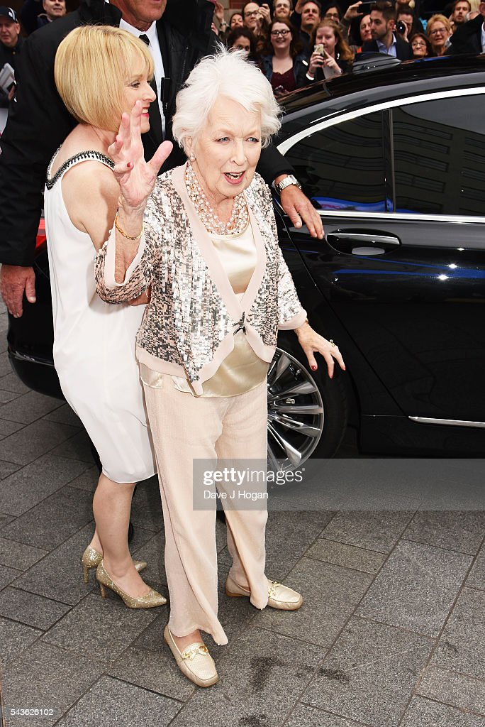June Whitfield attends the World Premiere of 'Absolutely Fabulous: The Movie' at Odeon Leicester Square on June 29, 2016 in London, England.