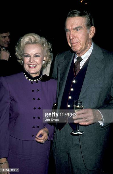 Juner Have and Fred MacMurray during Benefit for St Vincent de Paul November 19 1985 at Beverly Hilton Hotel in Beverly Hills California United States