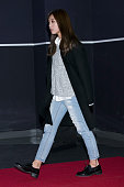 Jung EunJi of South Korean girl group A Pink attends the VIP screening for 'BOBOT SORI' at Lotte Cinema on January 25 2016 in Seoul South Korea