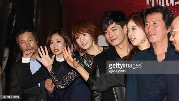 Jung InKi Park HyoJoo Kim SunA On JooWan Lee ChungAh and Shin JungKeun attend the 'The Five' VIP press screening at Wangsimni CGV on November 8 2013...
