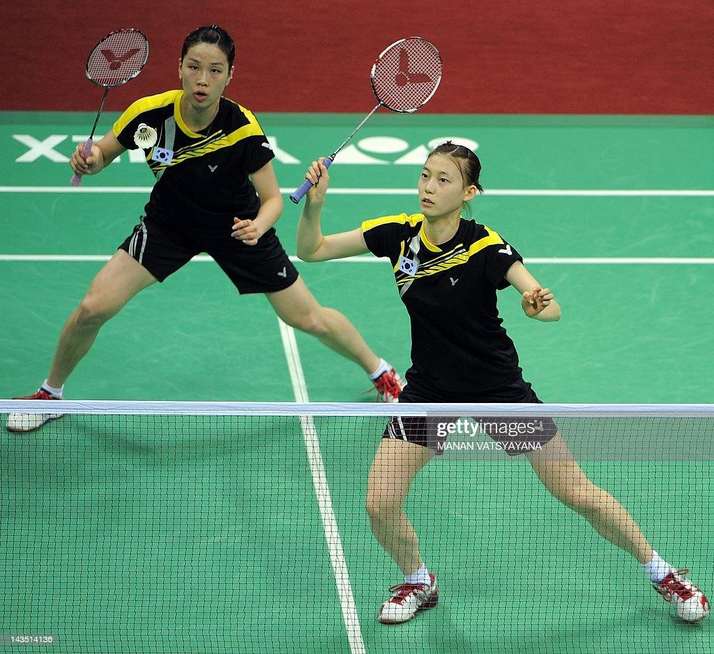 Jung Kyung Eun L and Kim Ha Na R of