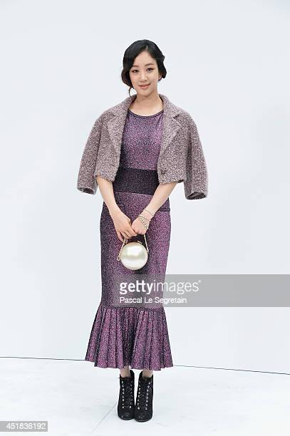 Jung Ryeowon attends the Chanel show as part of Paris Fashion Week Haute Couture Fall/Winter 20142015 at Grand Palais on July 8 2014 in Paris France