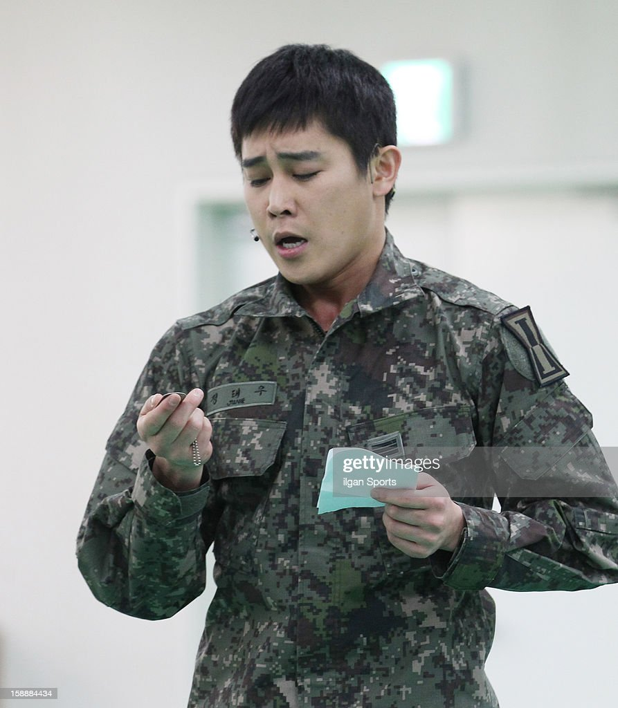 Jung Tae-Woo performs during the musical 'The Promise' rehearsal at Wooriarthall on December 27, 2012 in Seoul, South Korea.