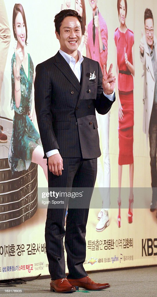 Jung Woo attends the KBS 2TV 'You're The Best Lee Soon-Shin' Press Conference at Seoul Plaza on March 4, 2013 in Seoul, South Korea.