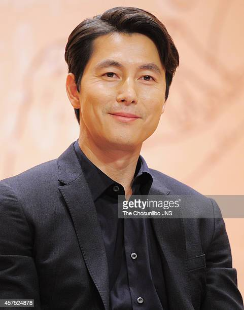 Jung WooSung attends the 12th Asiana International Short Film Festival press conference at Kumho Art Hall on October 14 2014 in Seoul South Korea