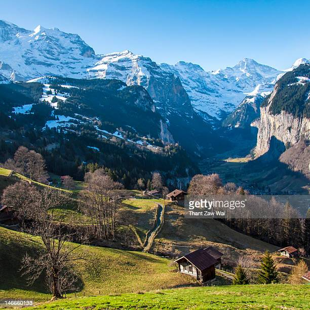Jungfrau and Lauterbrunnen valley