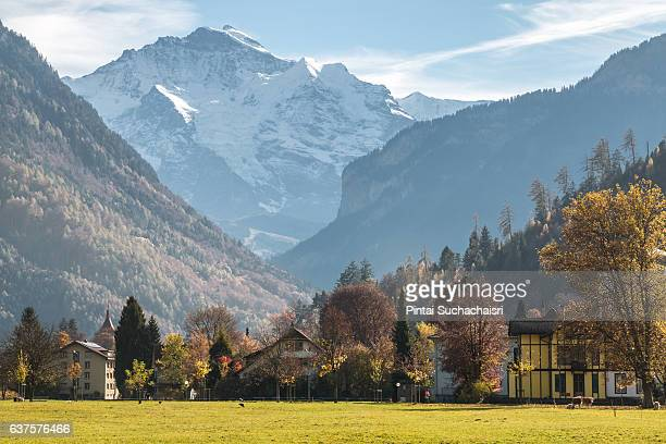 Jungfrau Mountain Seen from Interlaken City Center