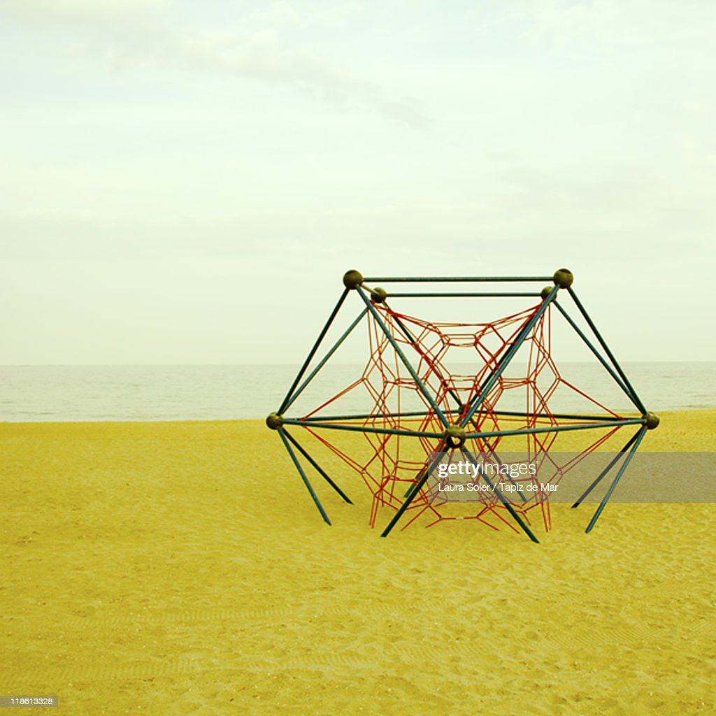 Jungle gym on beach