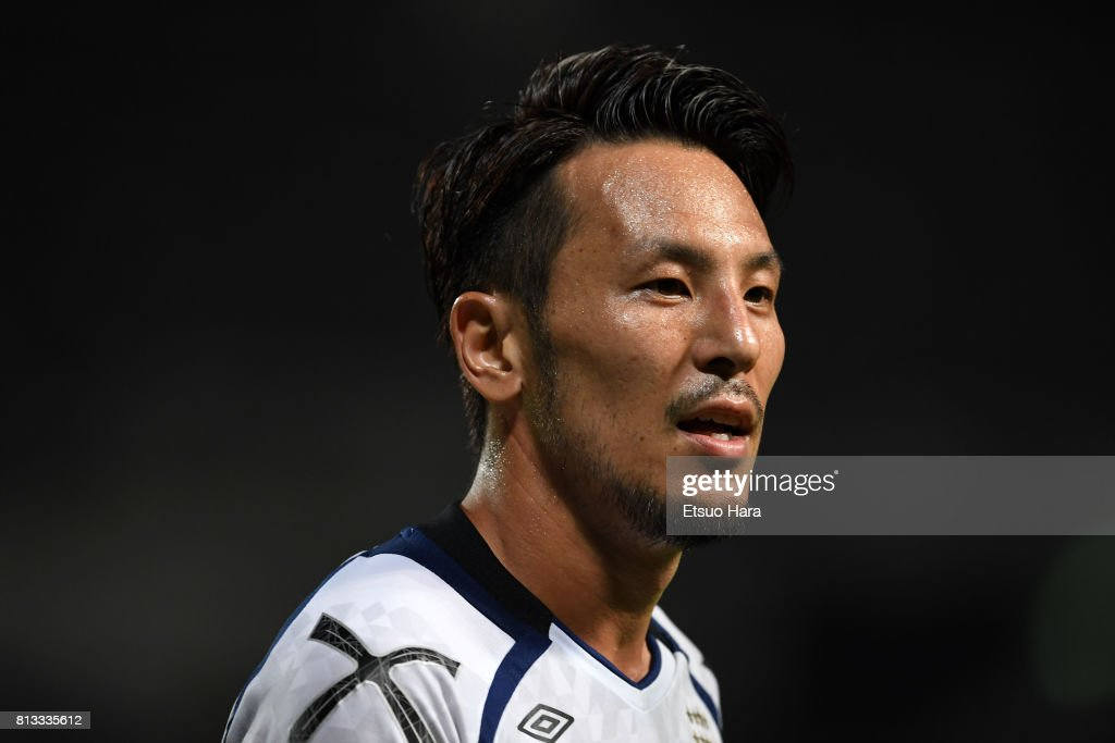 Jungo Fujimoto of Gamba Osaka looks on during the 97th Emperor's Cup third round match between JEF United Chiba and Gamba Osaka at Fukuda Denshi Arena on July 12, 2017 in Chiba, Japan.