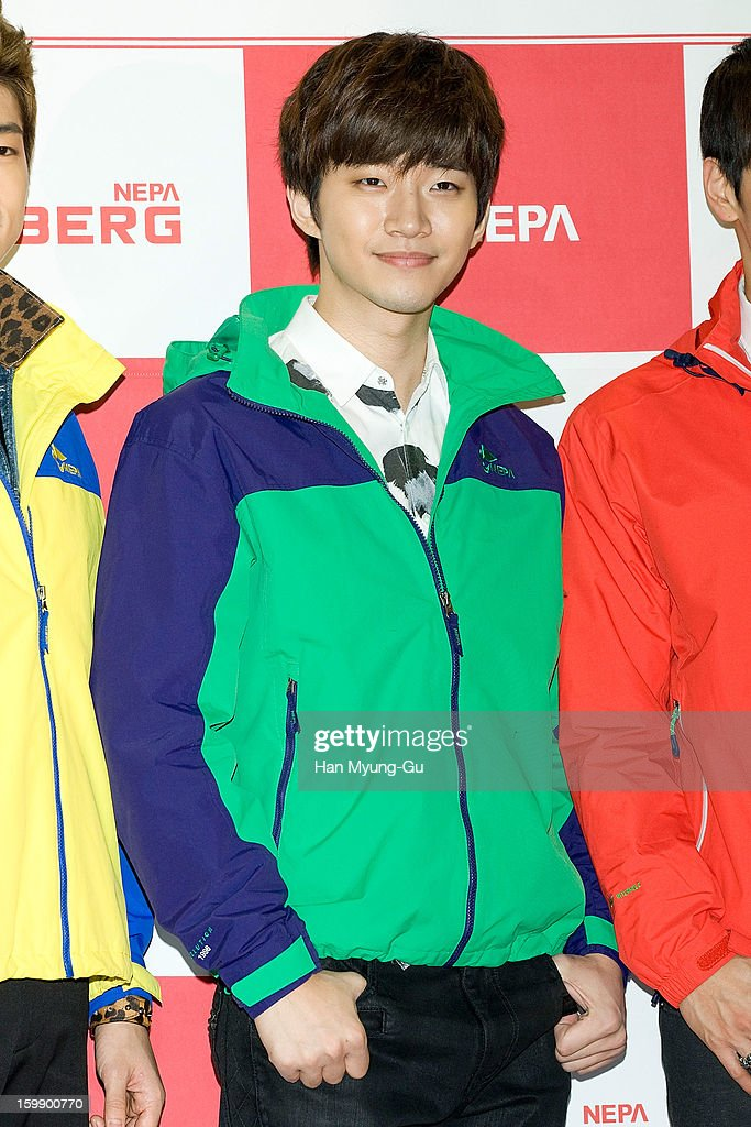 Junho of South Korean boy band 2PM attends a promotional event for the NEPA History Show 2013 'ISENBERG' Launching Show at COEX on January 22, 2013 in Seoul, South Korea.