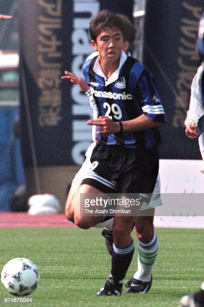 Junichi Inamoto of Gamba Osaka in action during the JLeague match between Gamba Osaka and Bellmare Hiratsuka at Expo '70 Commemorative Stadium on...