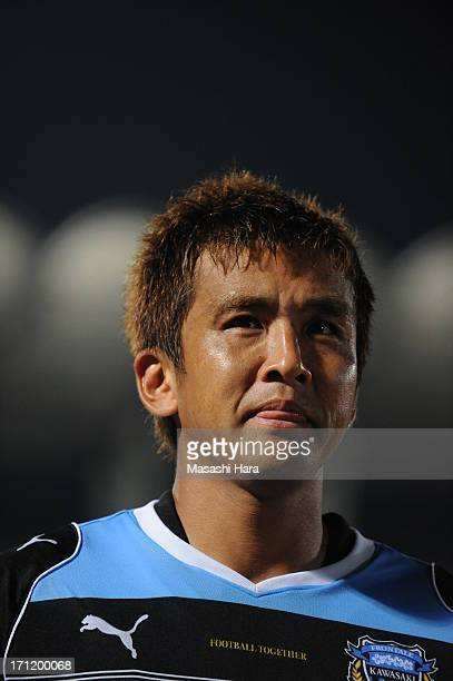 Junichi Inamoto of Kawasaki Frontale looks on after the JLeague Yamazaki Nabisco Cup quarter final match between Kawasaki Frontale and Vegalta Sendai...