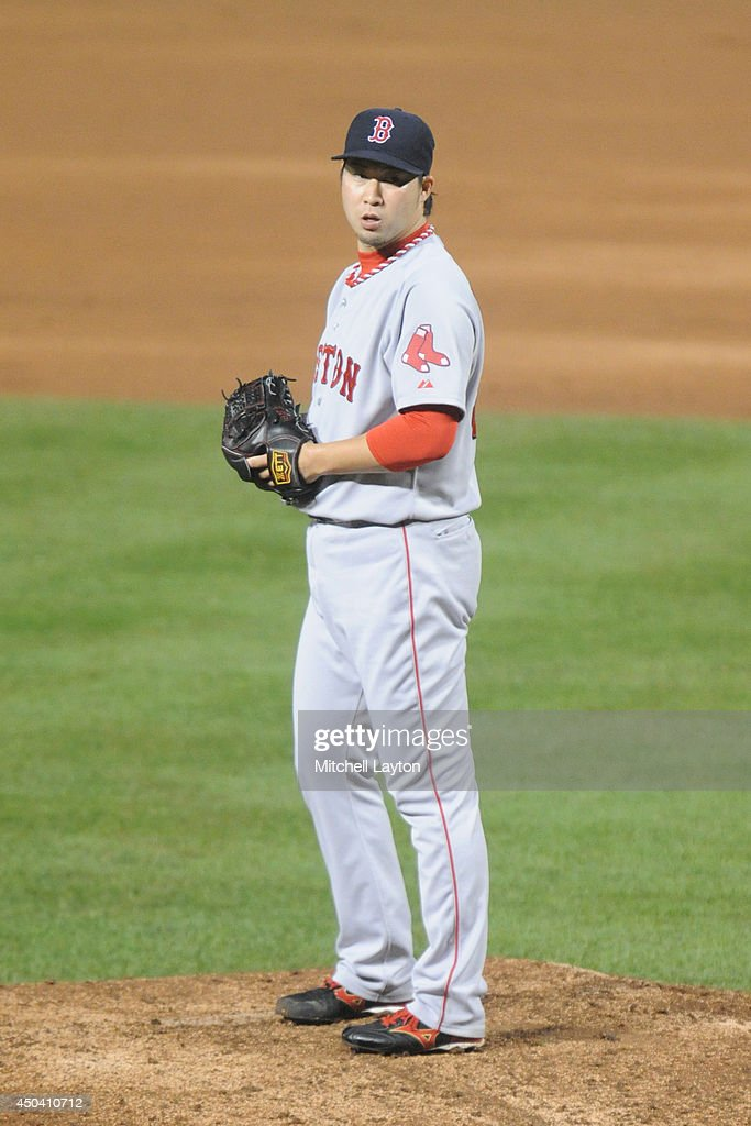 <a gi-track='captionPersonalityLinkClicked' href=/galleries/search?phrase=Junichi+Tazawa&family=editorial&specificpeople=4624306 ng-click='$event.stopPropagation()'>Junichi Tazawa</a> #36 of the Boston Red Sox pitches in the eighth inning during a baseball game against the Baltimore Orioles on June 10, 2014 at Oriole Park at Camden Yards in Baltimore, Maryland. The Red Sox won 1-0.