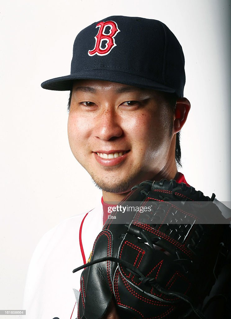 <a gi-track='captionPersonalityLinkClicked' href=/galleries/search?phrase=Junichi+Tazawa&family=editorial&specificpeople=4624306 ng-click='$event.stopPropagation()'>Junichi Tazawa</a> #36 of the Boston Red Sox poses for a portrait on February 17, 2013 at JetBlue Park at Fenway South in Fort Myers, Florida.