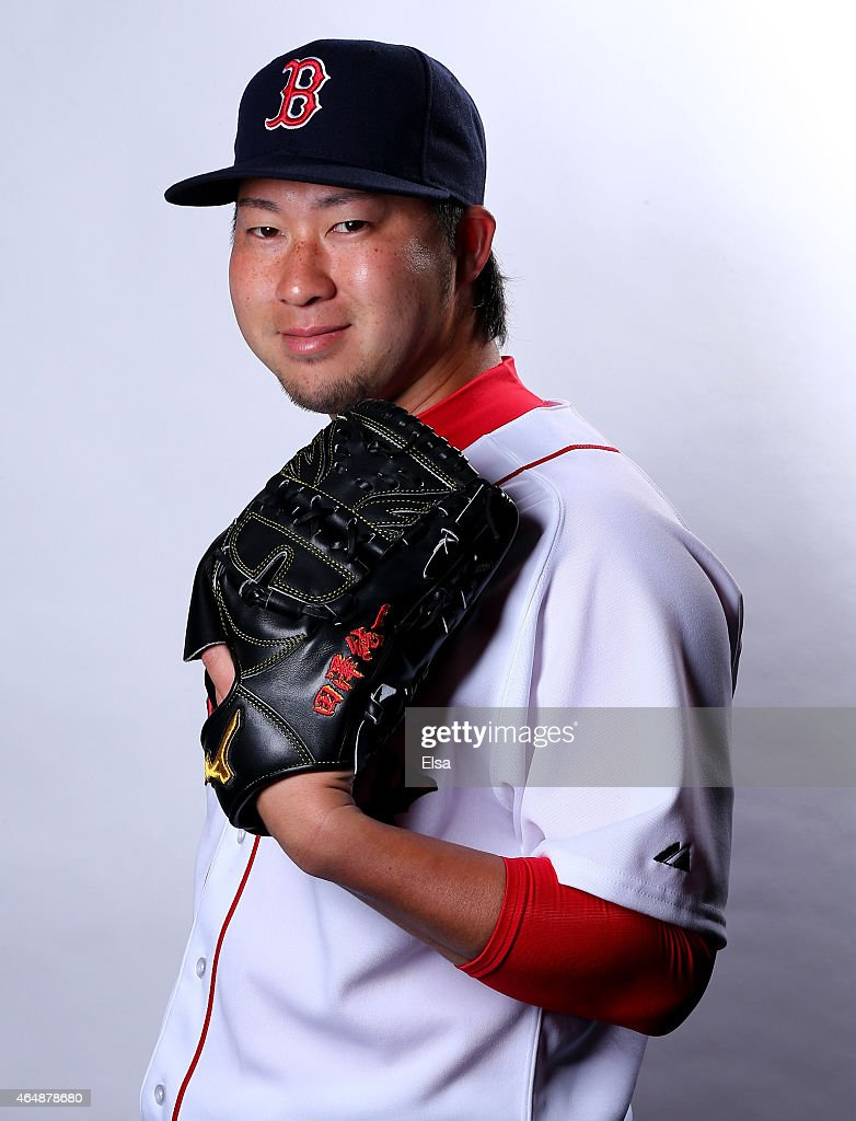 Junichi Tazawa #36 of the Boston Red Sox poses for a portrait on March 1, 2015 at JetBlue Park in Fort Myers, Florida.