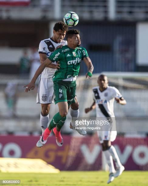 Juninho of Palmeiras battles for the ball with Elton of Ponte Preta during the match between Ponte Preta and Palmeiras as a part of Campeonato...
