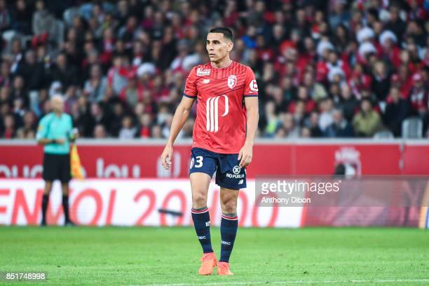 Junior Alonso of Lille during the Ligue 1 match between Lille OSC and AS Monaco at Stade Pierre Mauroy on September 22 2017 in Lille